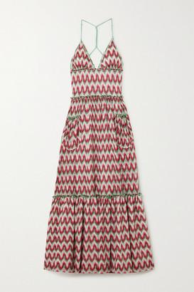 Missoni Tiered Metallic Crochet-knit Halterneck Maxi Dress - IT36