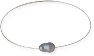 Margo Morrison Gray Baroque Pearl Choker Necklace