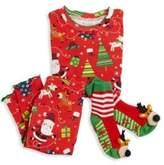 Toddler's & Little Girl's Three-Piece Snuggle Moon Christmas Pajamas & Socks Set