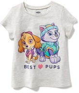 "Old Navy Paw Patrol ""Best Pups"" Tee for Toddler Girls"