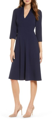 Vince Camuto V-Neck A-Line Dress