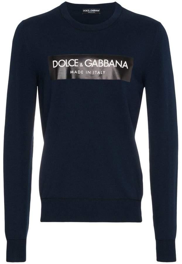 Dolce & Gabbana Crewneck logo sweater