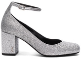 Saint Laurent Babies Mary Jane in Metallics.