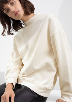 And other stories Organic Cotton Mock Neck Sweater