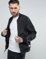 Penfield Oakfield Nylon Bomber In Black