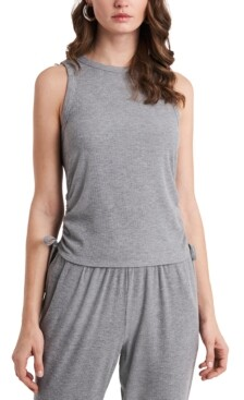 1 STATE Ruched Side-Tie Tank Top