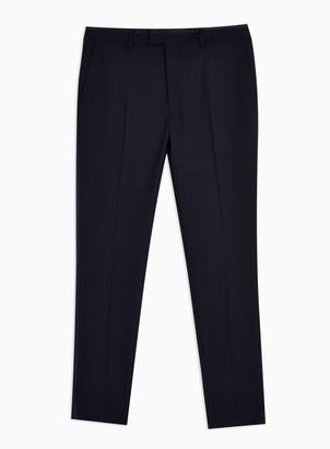 Topman Navy Skinny Fit Tuxedo Suit Trousers