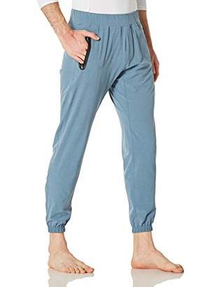 Men's Drawstring Zip Cuff Active Pants with Pockets for Yoga Joggers