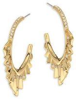 Alexis Bittar Elements Crystal-Encrusted Pleated Hoop Earrings/1.75