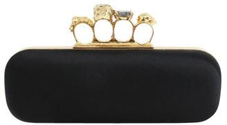 Alexander McQueen Black Canvas Knuckle Box Clutch