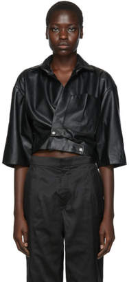 Markoo SSENSE Exclusive Black The Cropped Snap-Front Shirt