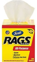 Rubbermaid Scott® Rags In a Box; 200/Box