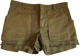 See by Chloe Khaki Cotton Shorts for Women