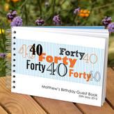 Amanda Hancocks Personalised Boys 40th Birthday Guest Book