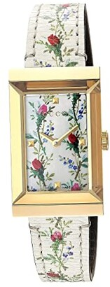 Gucci G-Frame - YA147407 (Floral/Gold) Watches