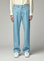 Overcoat Men's Wool Serge Jean Trouser in Light Blue Size 0 100% Cotton