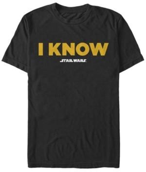 Star Wars Men's Leia I Know Short Sleeve T-Shirt