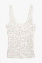Thumbnail for your product : Monki Pointelle fitted singlet