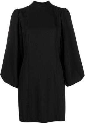 Ganni Puff-Sleeve Cocktail Dress