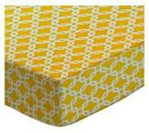 SheetWorld Extra Deep Fitted Portable / Mini Crib Sheet - Lemon Links - Made In USA