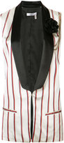 Lanvin striped waistcoat - women - Polyester/Acetate/Cupro - 34
