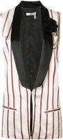 Lanvin striped waistcoat - women - Polyester/Acetate/Cupro - 38