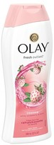 Olay Fresh Outlast Cooling White Strawberry & Mint Body Wash - 22oz