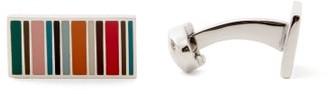 Paul Smith Multi-stripe Cufflinks - Mens - Silver