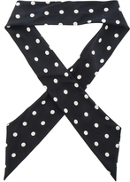Saint Laurent Crepe De Chine Dot Scarf
