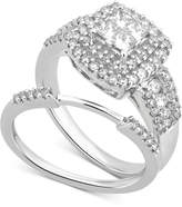 Macy's Diamond Cluster Bridal Set (1-1/5 ct. t.w.) in 14k White Gold