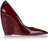 Nicholas Kirkwood Lizy patent-leather wedge pumps