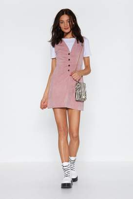 Nasty Gal Womens Button-Down To My Level Corduroy Dress - Pink - 14