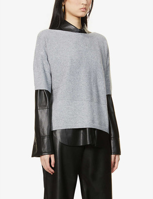 Max Mara Boario short-sleeved cashmere and cotton-blend jumper
