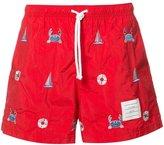 Thom Browne printed swim shorts