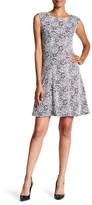 Adrianna Papell Sleeveless Rose Pattern Dress