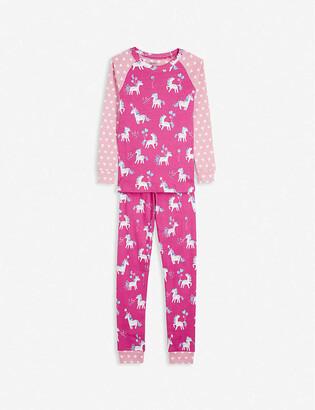 Hatley Party Pony-print organic cotton pyjama set 2-10 years