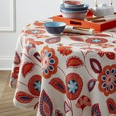 "Crate & Barrel Anju 60"" Round Tablecloth"