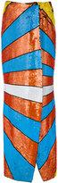 Olympia Le-Tan sequin eye emblem skirt - women - Sequin/Silk - 36