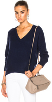 Equipment Asher Cashmere V Neck in Blue.