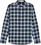 Givenchy Checked Star-appliqué Cotton Shirt