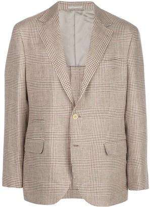 Brunello Cucinelli Glen check blazer