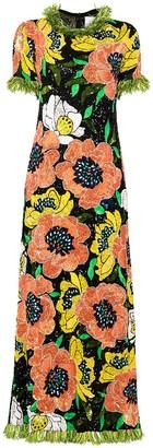 Ashish Floral-Motif Sequin-Embellished Gown