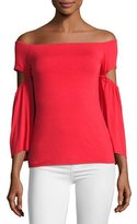 Bailey 44 White Bay Off-the-Shoulder Top, Red