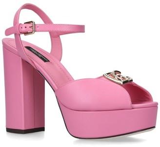 Dolce & Gabbana Leather Millen Sandals 120