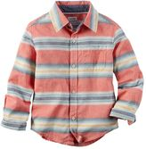 Carter's Boys 4-7 Woven Patterned Button-Down Shirt