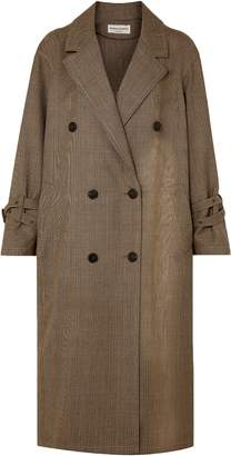Sonia Rykiel Double-breasted Prince Of Wales Checked Wool Coat