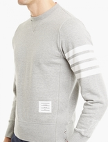 Thom Browne Grey Cotton Sweatshirt