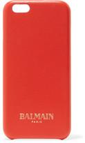 Balmain Textured-Leather Phone Case