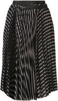 Sacai pleated wrap skirt - women - Cupro - 1