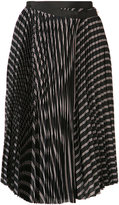 Sacai pleated wrap skirt - women - Cupro - 3